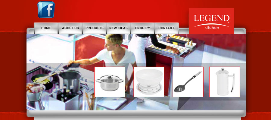 KITCHEN WEB DESIGN Client: Legend SA Kitchenware Web Design Portfolio Part 47